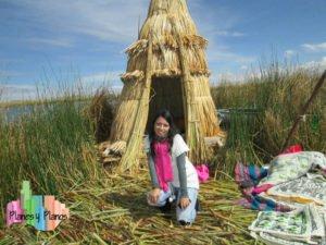 vivienda tradicional de los uros