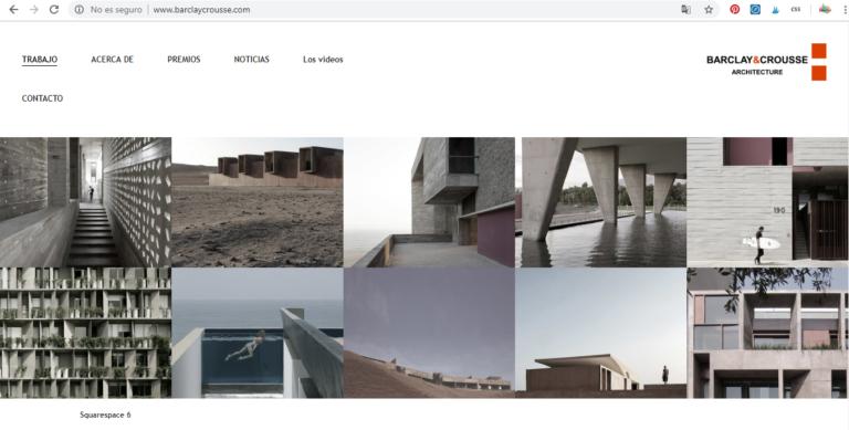 Web de Barclay & Crousse